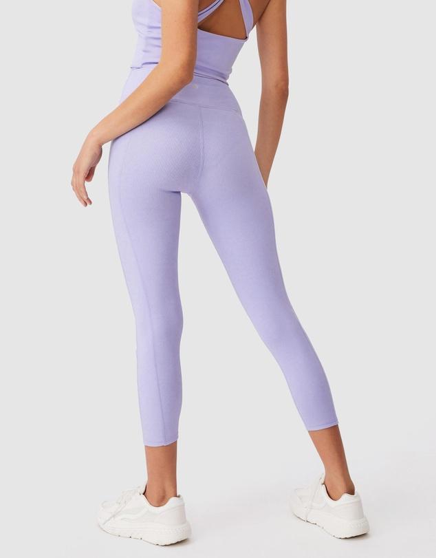 Women Rib Pocket 7/8 Tights