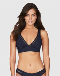 Sea Level Australia - Lola Long Line Tri Bra With Stretch Cross Elastic Trim