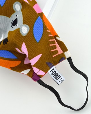 Ford Millinery Drop Bear Reversible Fabric Face Mask - Face Masks (Multi)