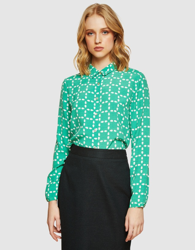 Oxford - Poppy Circle Printed Blouse