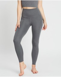 Beyond Yoga - Heather Rib High-Waist Midi Leggings