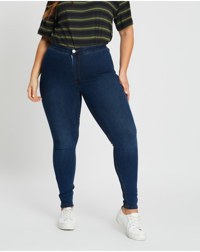 Cotton On Curve Ashley High Jeggings Mid Blue