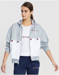 Tommy Sport - Flag Tape Full-Zip Hoodie