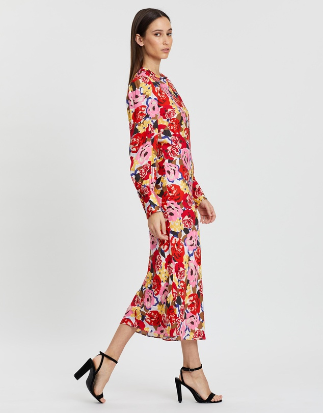 Rebecca Vallance - Blume LS Midi Dress