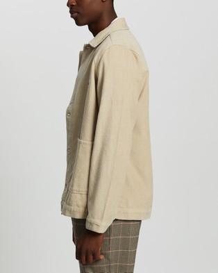 Stussy Leroy Cord Chore Jacket - Coats & Jackets (Sand)
