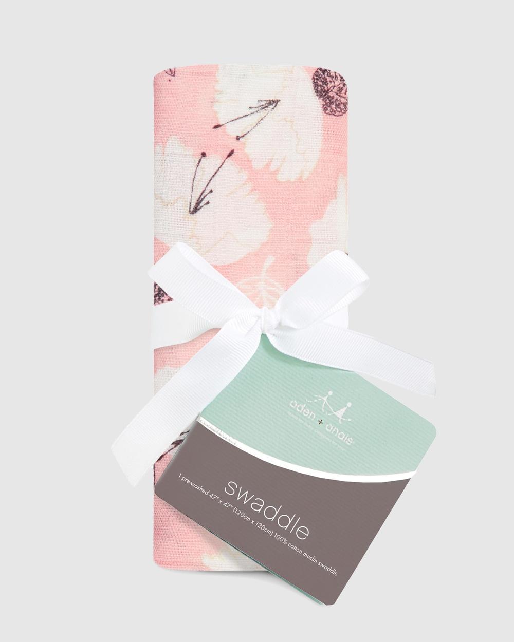 Aden & Anais Single Silky Soft Swaddle Wraps Blankets Pretty Petals