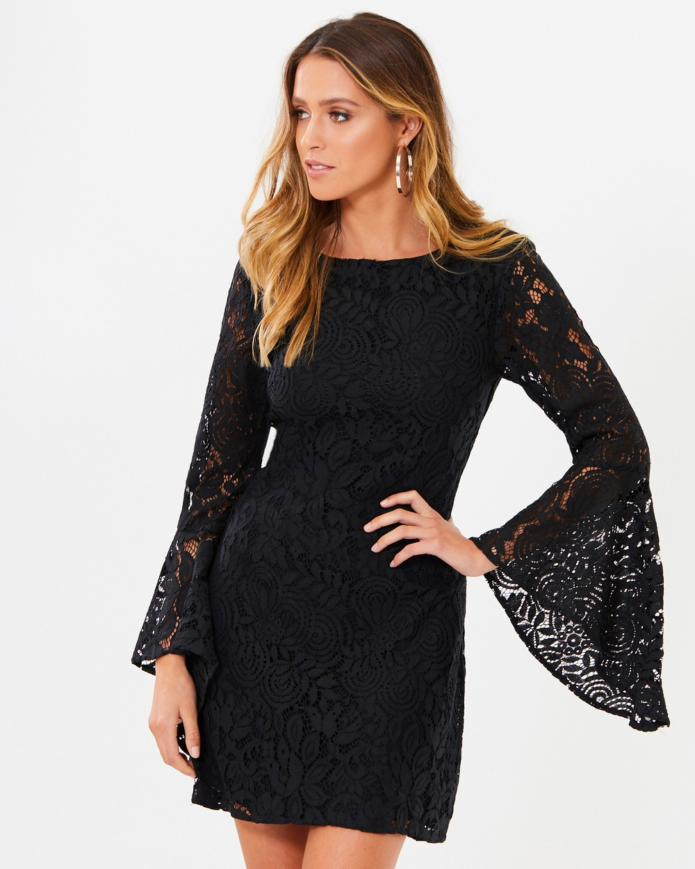 Tussah Tilda Lace Mini Dress Dresses Black Lace Tilda Lace Mini Dress
