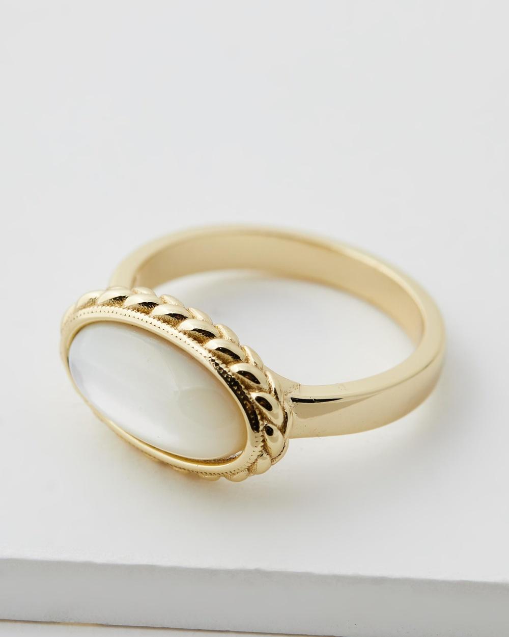 Serge DeNimes Pearl Rope Ring Jewellery Gold
