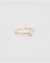 WWAKE - Single Nestled Opal Ring
