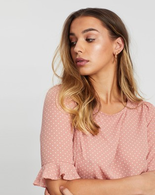 Atmos&Here Shelby Top - Tops (Pink & Cream Spot)