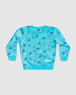Quiksilver - Boys 2 7 Flip Snacking Sweatshirt - Sweats (FLIP SNACKING PACIFI) Boys 2-7 Flip Snacking Sweatshirt