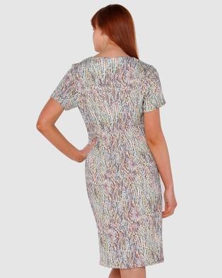 Privilege Addison Split Dress - Printed Dresses (Reptile)