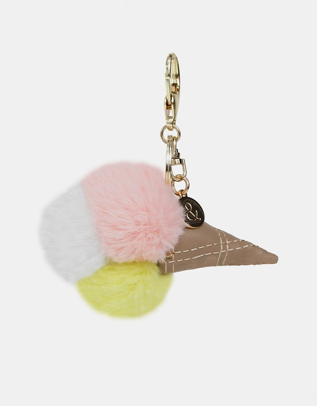 Belle & Bloom - Faux Fur Gelato Key Ring 2 Pack