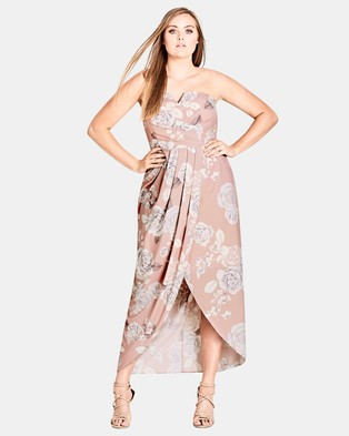 City Chic – Whimsical Maxi Dress – Printed Dresses Soft Whimsy