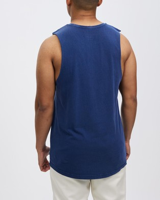 Staple Superior Organic Staple Organic Vintage Muscle - T-Shirts & Singlets (Navy)