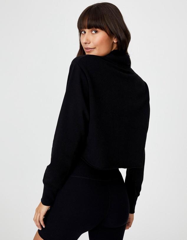 Women Lifestyle Mock Neck Fleece Top
