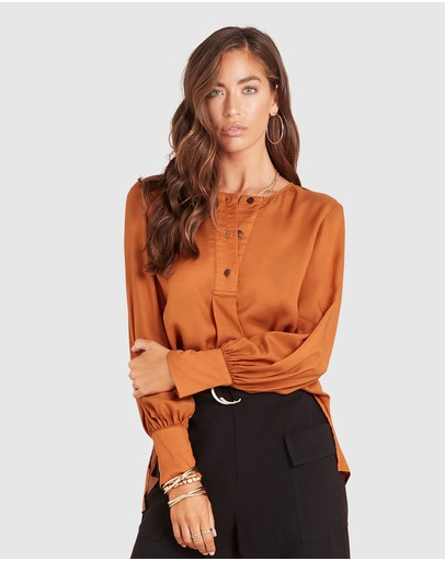 Ministry Of Style Luminescent Shirt Caramel
