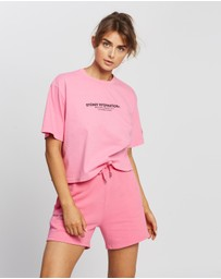Stussy - Text Waisted Oversized Tee