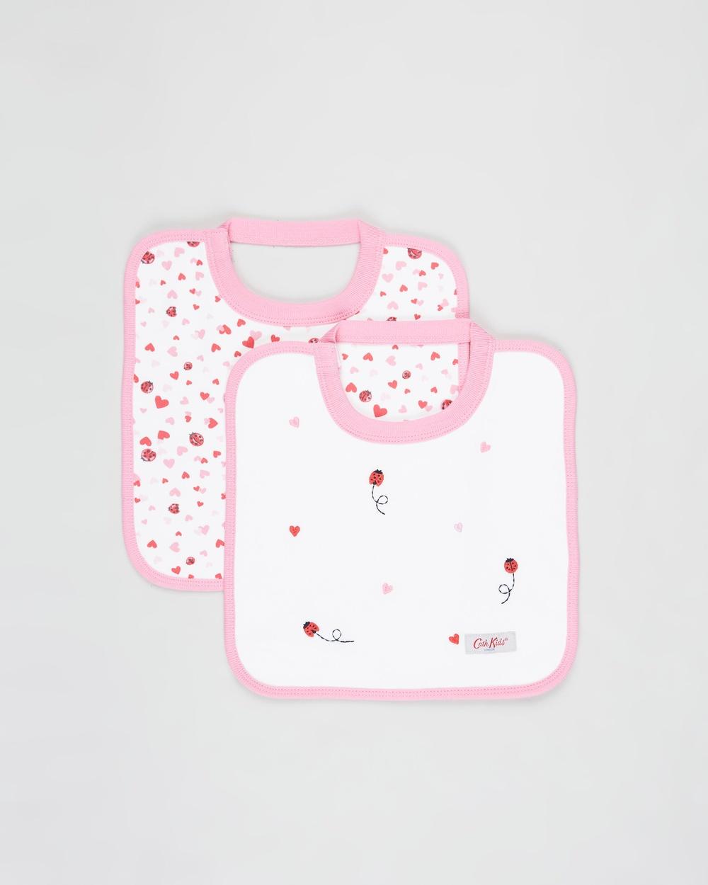Cath Kidston Square Bibs 2 Pack Babies Mini Lovebugs 2-Pack