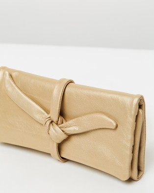 Loop Leather Co Leather Jewellery Roll - Travel and Luggage (Soft Gold)