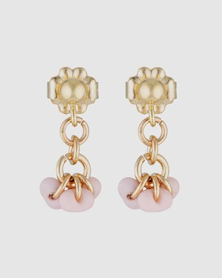 Elvis et Moi Mini Stud Marshmallow - Jewellery (Gold)