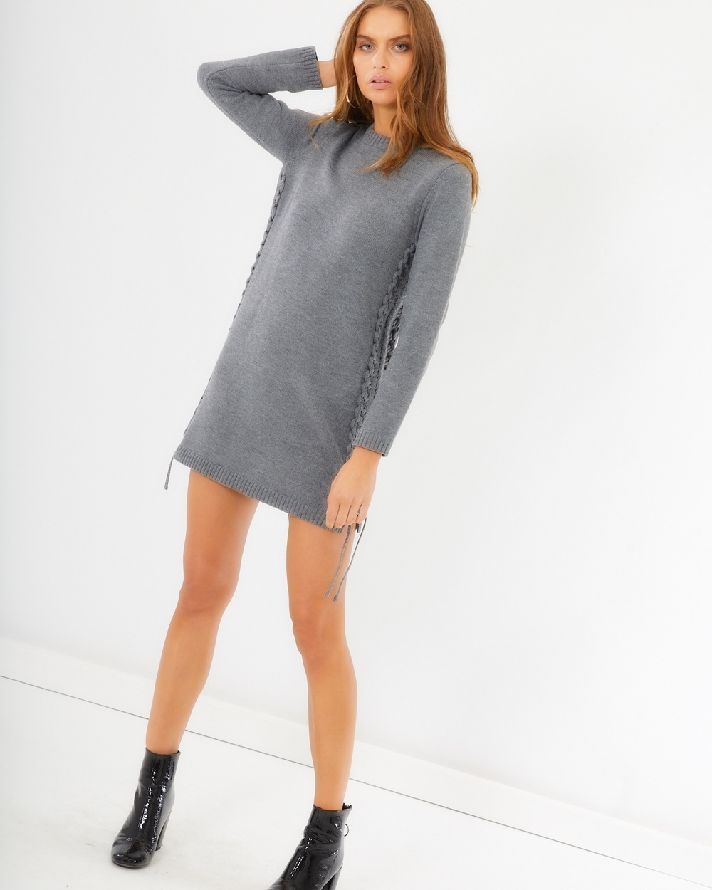 Photo of Tussah Grey Lula Knit Dress - beautiful dress from Tussah online