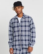 David Light Zip Checked Jacket