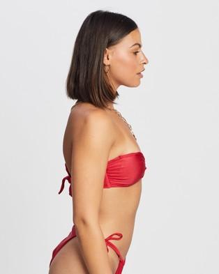 Endless - Miami Bandeau Bikini Top - Bikini Tops (Red) Miami Bandeau Bikini Top