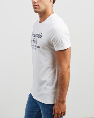 Abercrombie & Fitch Short Sleeve Graphic Crew Multi 3 Pack - T-Shirts & Singlets (White, Navy & Grey)
