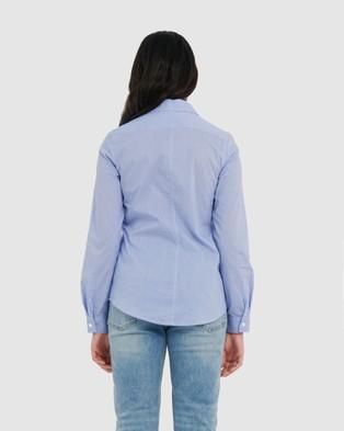 Forcast Evan Striped Shirt - Shirts & Polos (Sky Blue)