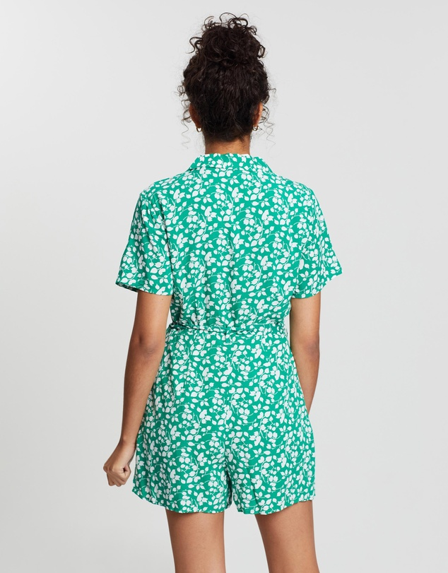 Abercrombie & Fitch - Short Sleeve Collar Romper