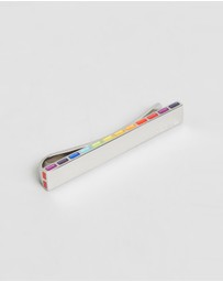 Paul Smith - Stripe Logo Edge Tie Pin
