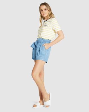 Superdry Desert Paper Bag Shorts  - Shorts (Indigo Light)