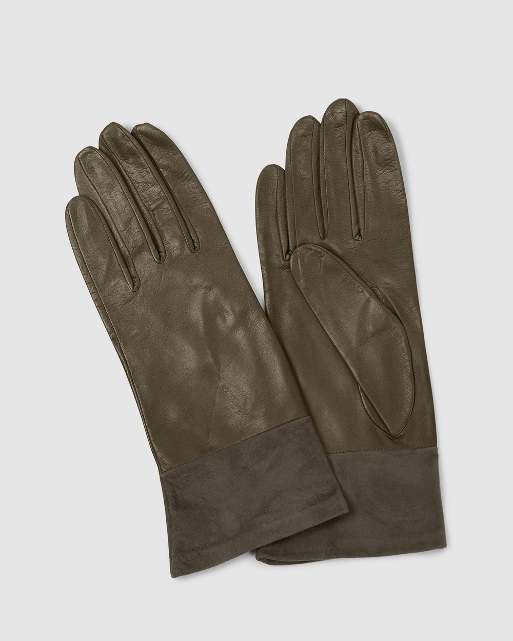 Kate & Confusion Vail Leather and Suede Gloves Outdoor Brown