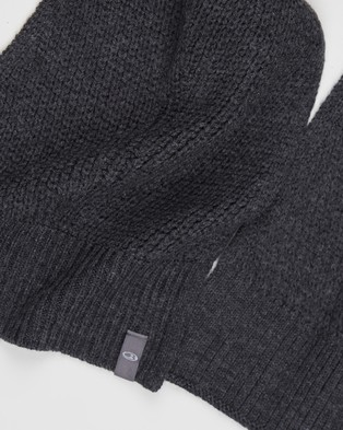 Icebreaker Waypoint Scarf - Scarves & Gloves (Charcoal Heather)