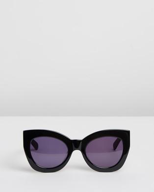 Karen Walker Northern Lights V2 - Sunglasses (Black & Smoke)