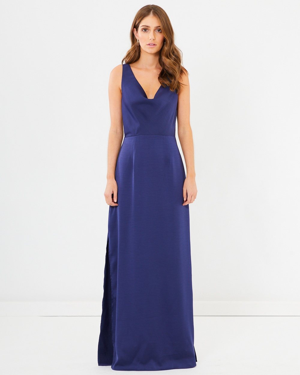 CHANCERY Meredith Cowl Neck Dress Bridesmaid Dresses Navy Meredith Cowl Neck Dress