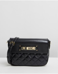 LOVE MOSCHINO - Logo Quilted Cross-Body Bag