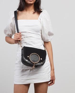 See By Chlo?? Mara Suede Cross Body Bag  - Handbags (Black)