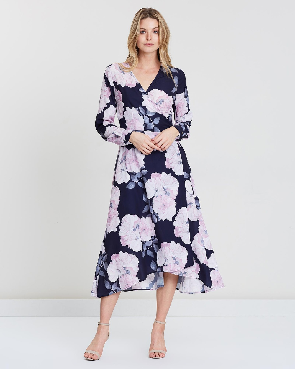 St. Frock Navy Electra Heart Wrap Dress