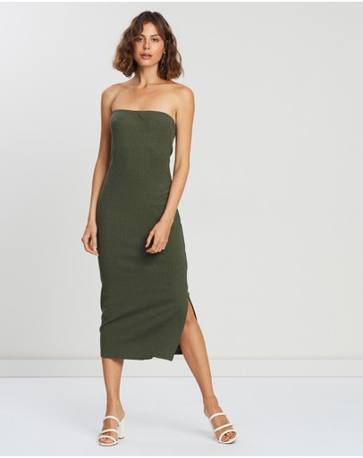 Atmos&here Kim Dress Khaki