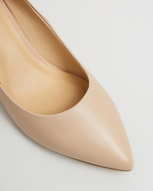 Atmos&Here Marli Leather Heels - All Pumps (Nude Leather)