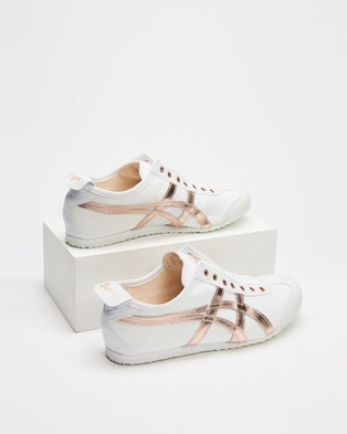 Onitsuka Tiger Mexico 66 Slip On   Women's - Accessories (White & Rose Gold)