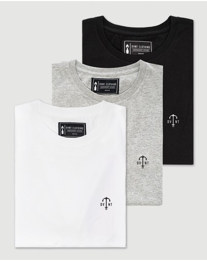 DVNT - 3 Pack Anchor Embroidery Tee