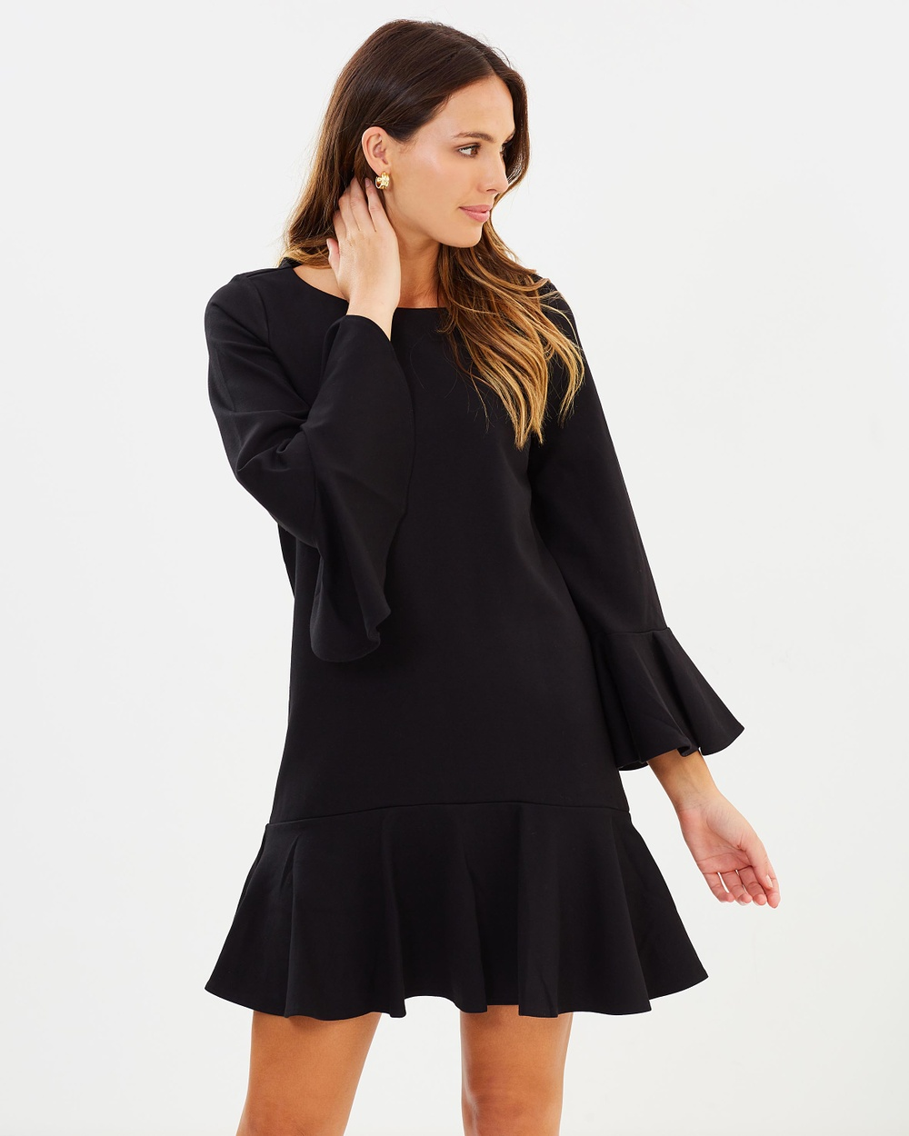 French Connection Matuku Lulu Ponte Jersey Dress Dresses Black Matuku Lulu Ponte Jersey Dress