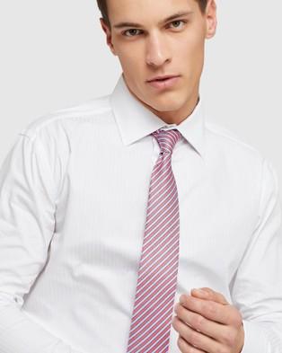 Oxford Islington F c Self Striped Shirt - Shirts & Polos (White)