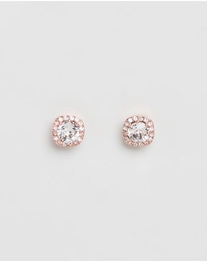 Mestige Halle Earrings With Swarovski® Crystals Rose