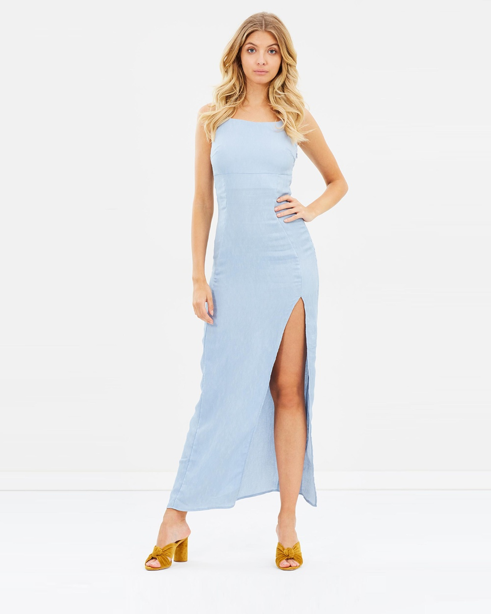 Atmos & Here ICONIC EXCLUSIVE Juliette Maxi Dress Dresses Dusty Blue ICONIC EXCLUSIVE Juliette Maxi Dress