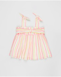 Billieblush - Striped Cheesecloth Top - Kids