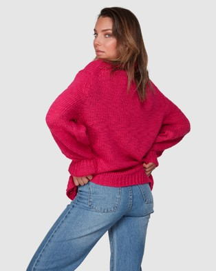 Billabong Chella Sweater - Jumpers & Cardigans (RASPBERRY)
